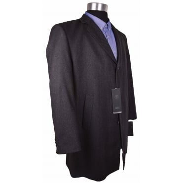 Bugatti Herringbone Wool Overcoat