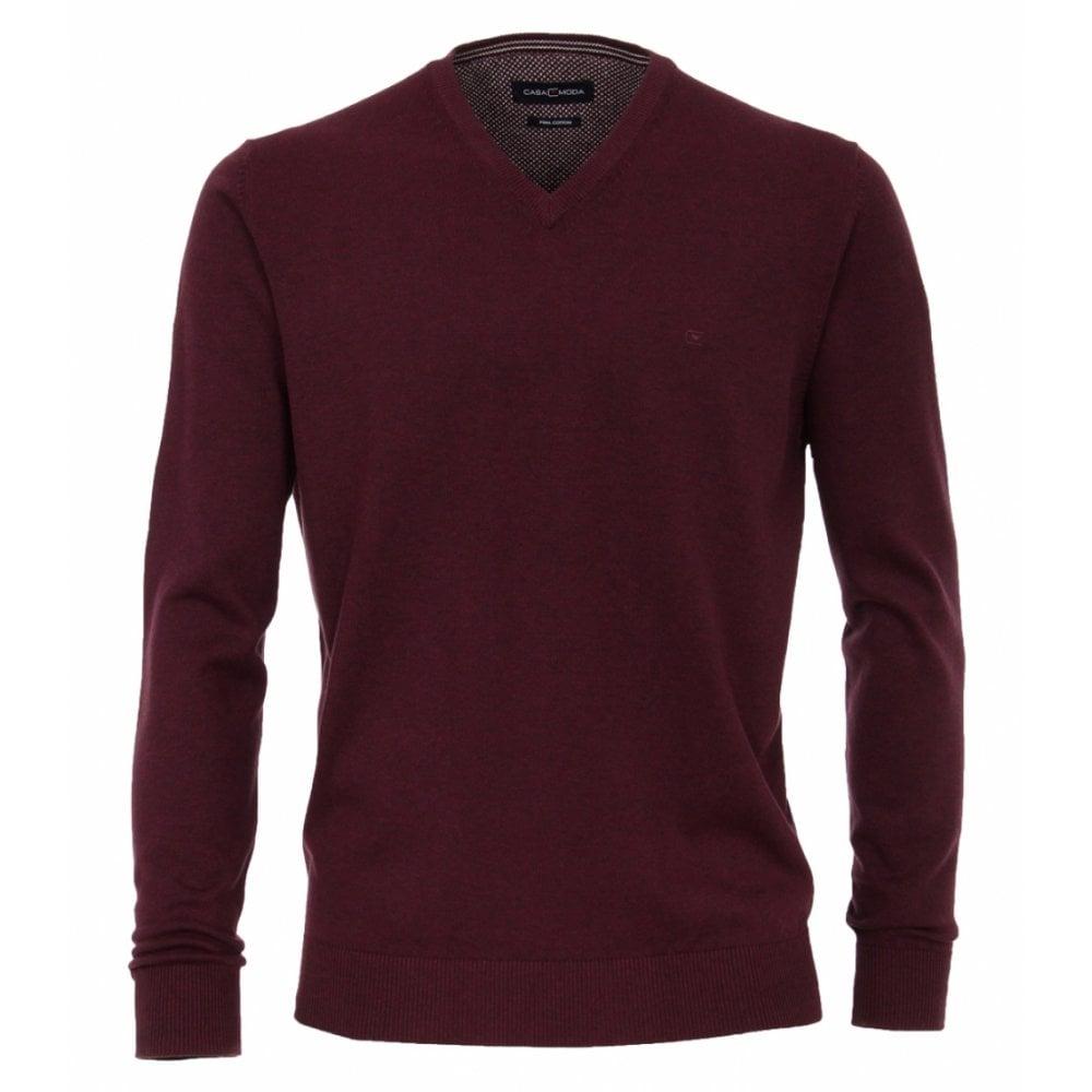 ab61ffd10f8 Casa Moda Pima Cotton V Neck Sweater