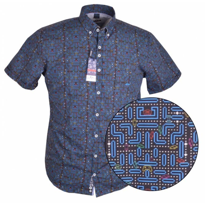 Clothing|Shirt Dario Beltran Arcade Game Print Short Sleeve Shirt