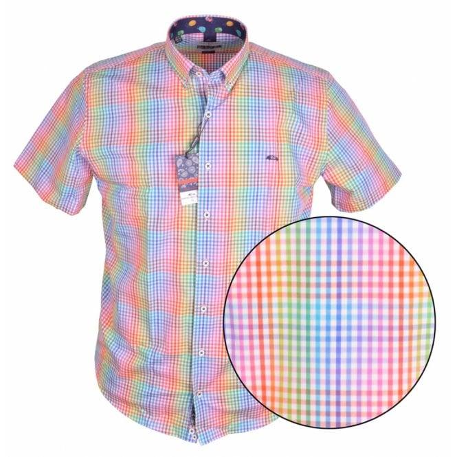 Clothing|Shirt Dario Beltran Multi Colour Check Short Sleeve Shirt