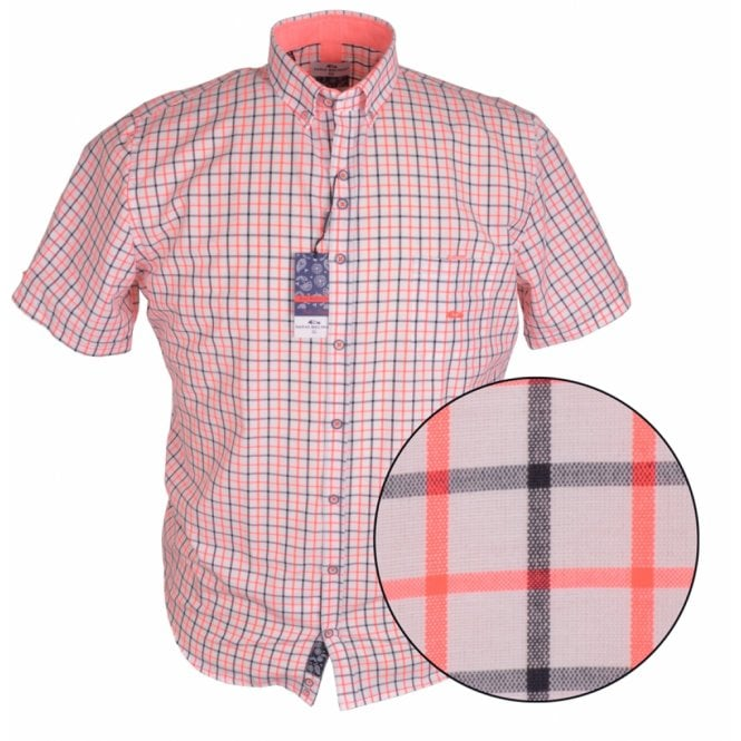 Clothing|Shirt Dario Beltran Two Tone Graph Check Short Sleeve Shirt