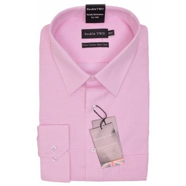 Double Two Micro Check Formal Shirt