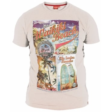 Duke Waikiki Beach Print T Shirt