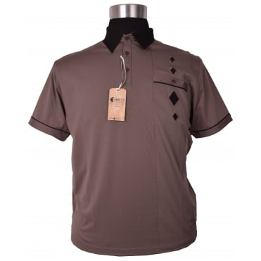 Gabicci Diamond Jersey Polo