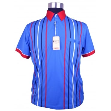 Gabicci Short Sleeve Stripe Polo Shirt