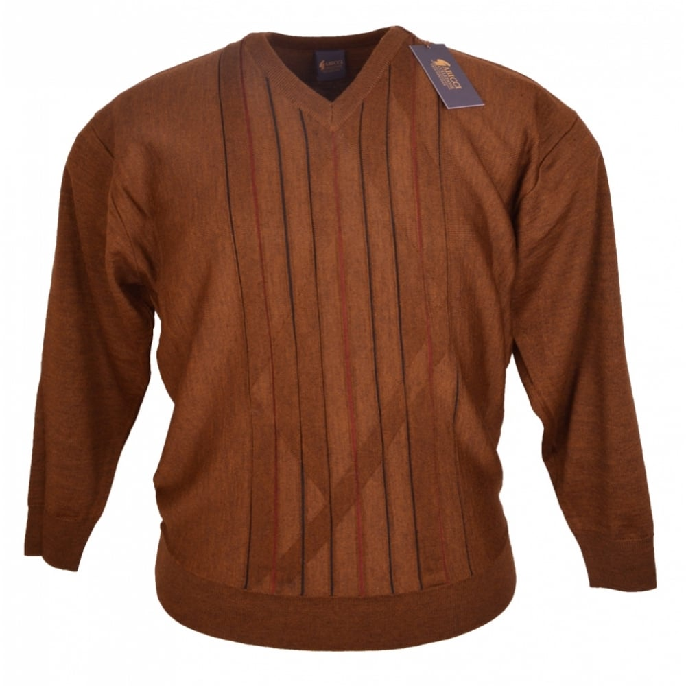 00350c87550715 Gabicci V Neck Patterned Knitwear - Clothing from Chatleys Menswear UK