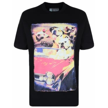 Kam Fashion Dog Print Tshirt