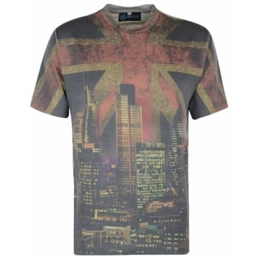 Kam Fashion Print Union Jack T Shirt