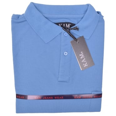 Kam Plain Polo Shirt With Chest Pocket