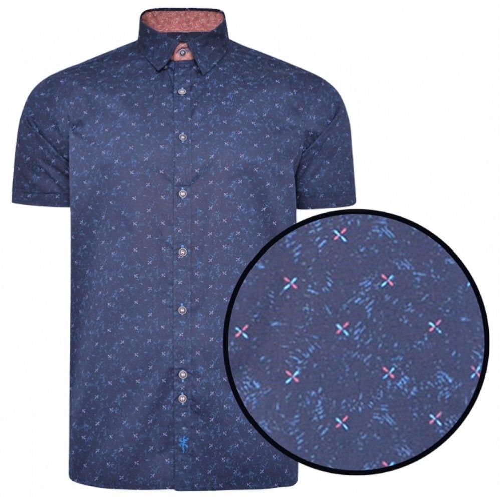 Dario Beltran Multi Colour Check Short Sleeve Shirt Contrast Trim 100/% Cotton