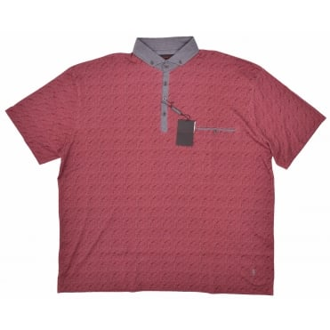 Lizard King Paisley Print Button Down Polo