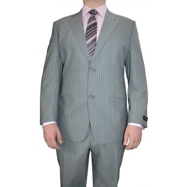 Mens Big Size Hugo James Pinstripe Suit