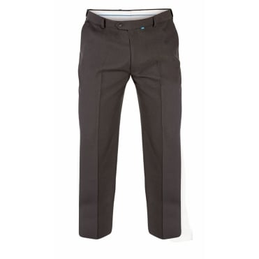 Mens Big Size Plain Polyester Trouser