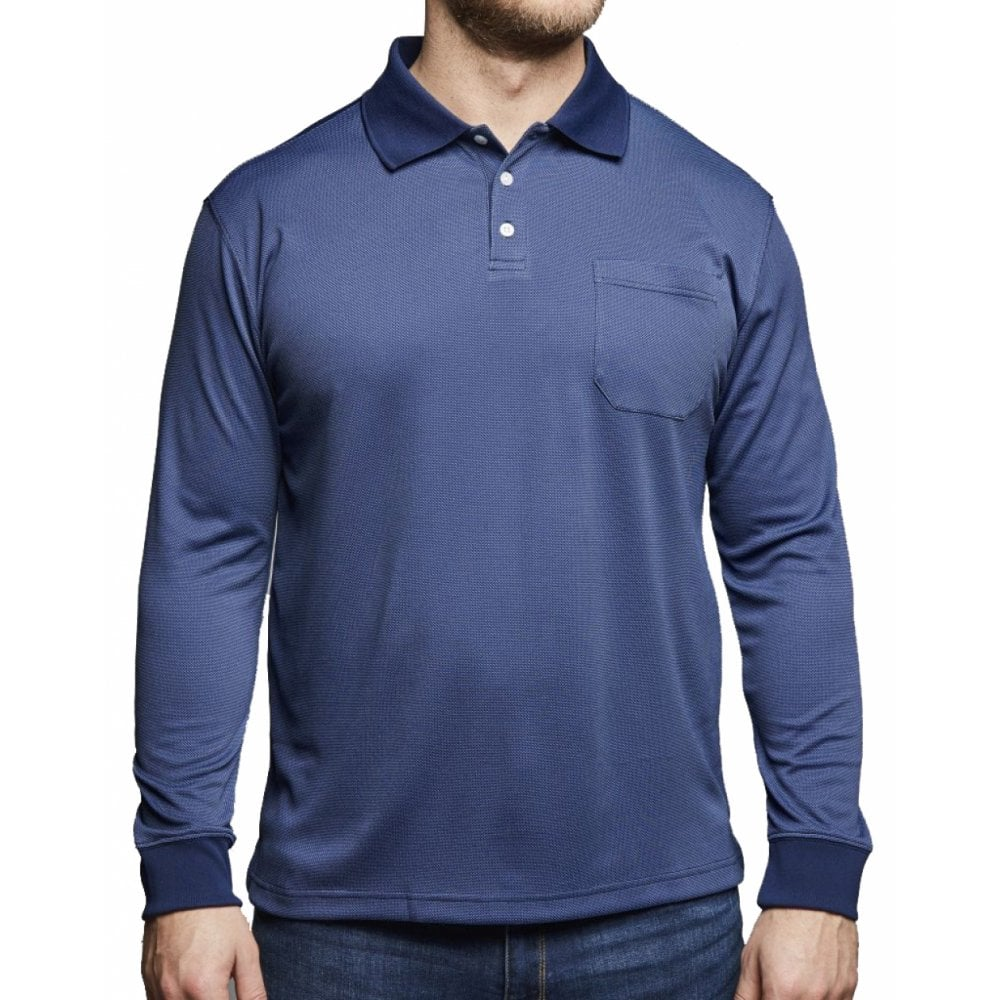 b351dc7550c5 North 56°4 Long Sleeve Fashion Polo - Clothing from Chatleys Menswear UK