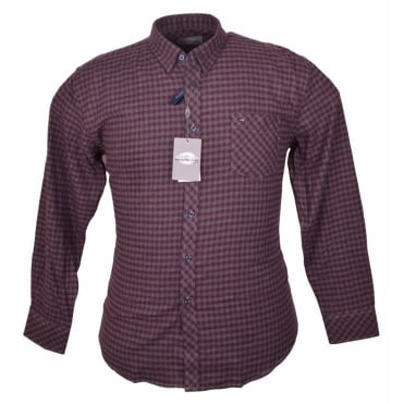 Peter Gribby Brush Cotton Check Caual Shirt