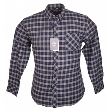 Peter Gribby Brush Cotton Check Shirt