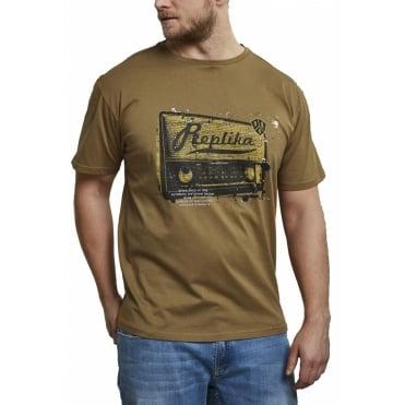 c94d523f291 Replika Jeans Fashion Cassette Print T Shirt