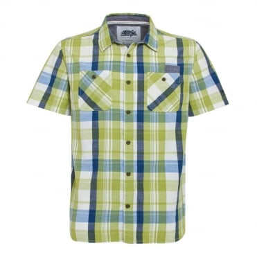 Weird Fish Slub Check Fashion Short Sleeve Shirt